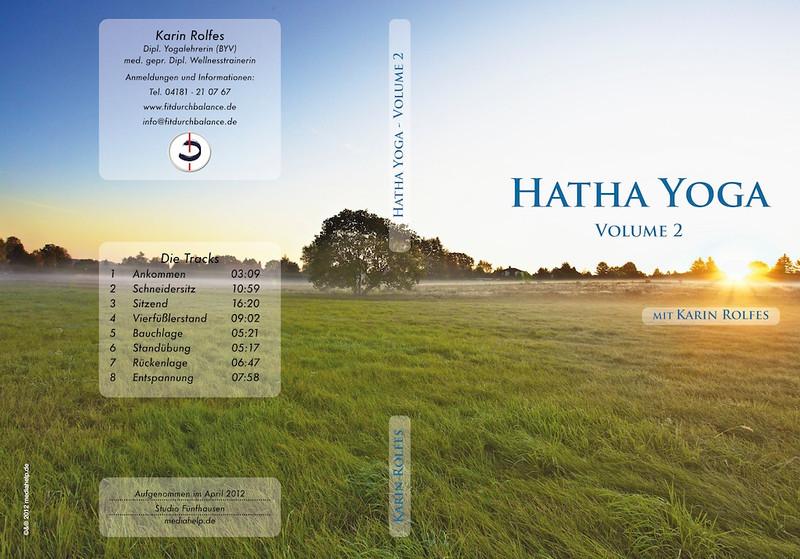 Yoga CD - Studio-Produktion, Slimcase Verpackungsdesign