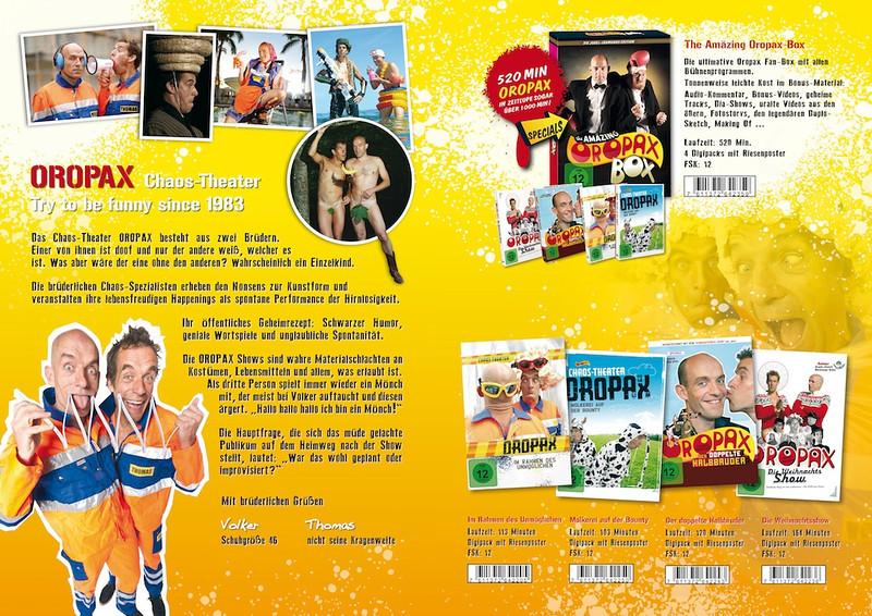 Werbeflyer DIN A4, 4-seiter, Filmveröffentlichung