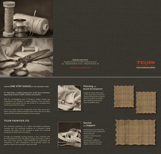 Wickelfalz-Flyer 6-seiter Textilbranche inkl. Fotoproduktion