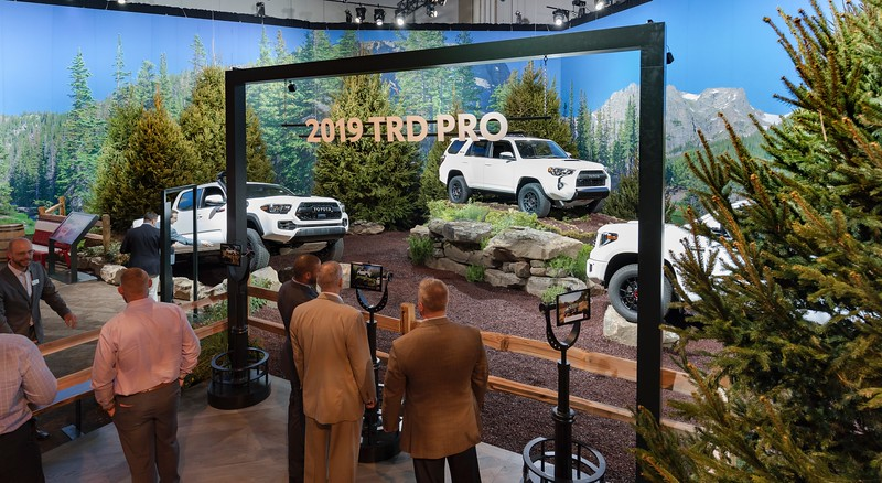 Scenic Backdrop at Toyota 2018 National Dealer Meeting