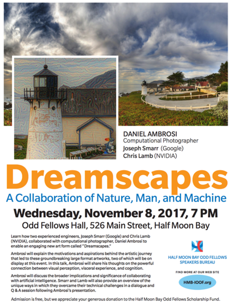 Dreamscapes Art+Tech Talk in Half Moon Bay