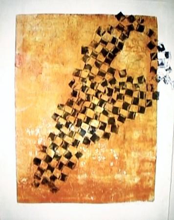 "relief print, 32.5 x 27""   2002"