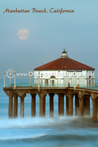 Manhattan Beach Aquarium during Moonset