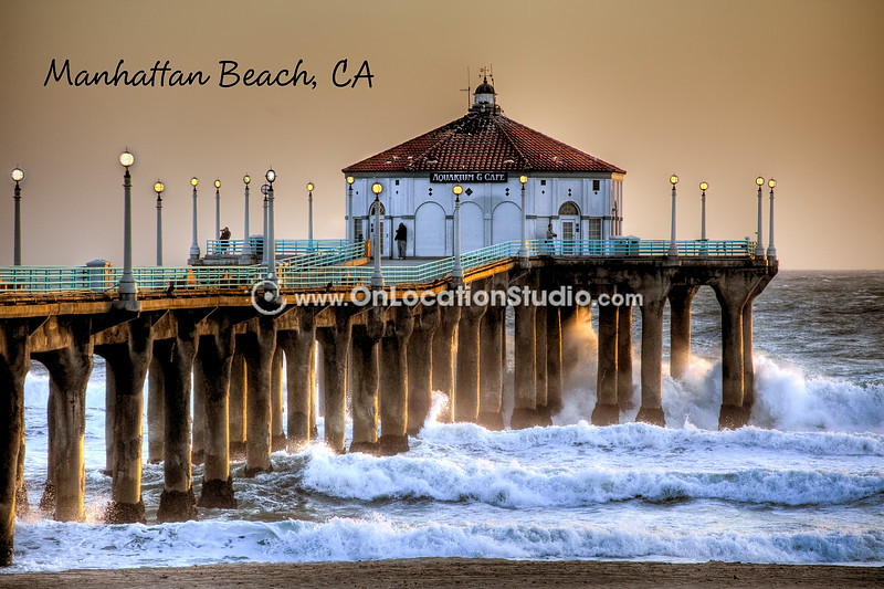 Manhattan Beach Pier on a Stormy Day