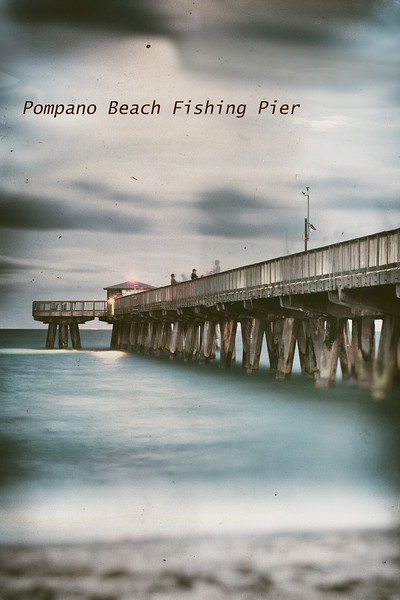 Quiet waters antique style,  Pompano pier