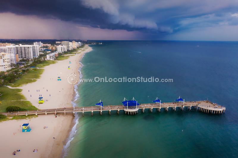 stormy sky over pompano beach