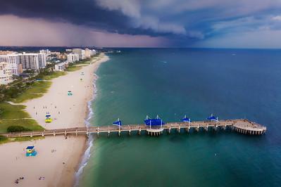 Stormy skies over Pompano Beach