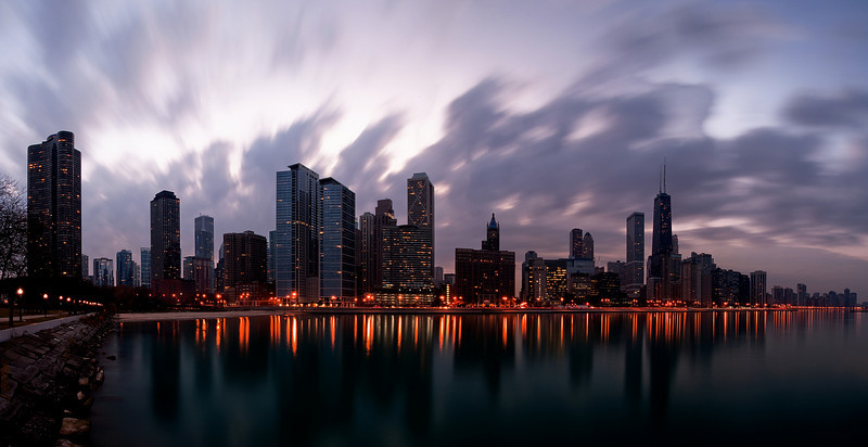 A View of Chicago from Oliver Park.