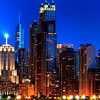 Detail of Chicago's Iconic Beautiful Skyline Taken from North Avenue Beach.