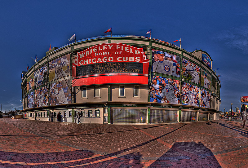 Wrigley Field the day before opening day 2011!