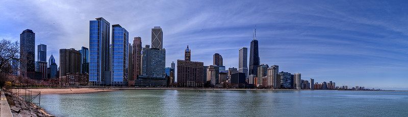 Chicago's Beautiful skyline on a spring afternoon!
