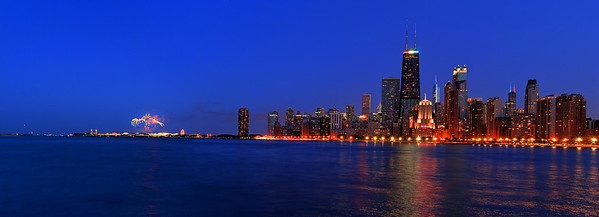 Chicago's Navy Pier's Fourth of July Fireworks.