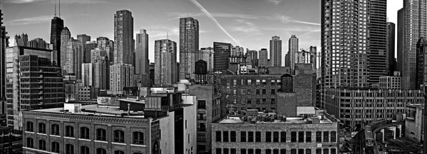 A large Panorama of the River North are of Chicago!