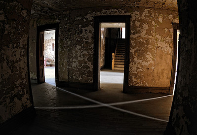 "The ""X"" at the Mansfield Reformatory - Formed by the light flowing through the windows of the four rooms."