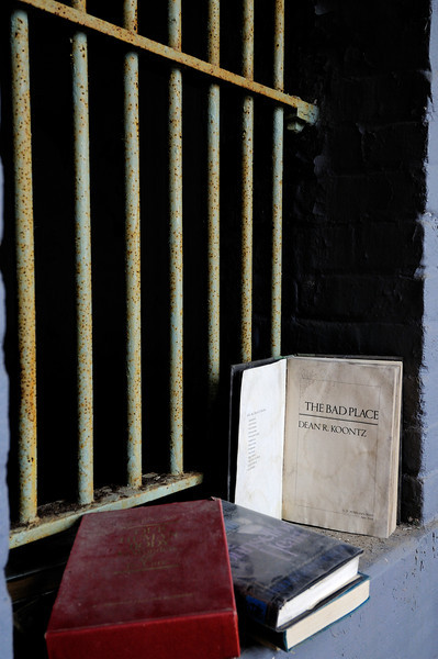 Book outside a Cell on the West Cell Block - Mansfield Reformatory 2008