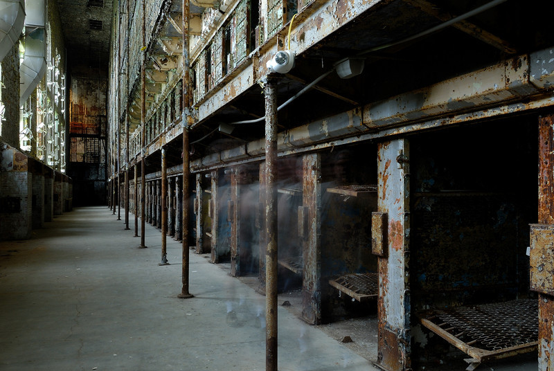 Ghost walking in front of the cells - Mansfield Reformatory