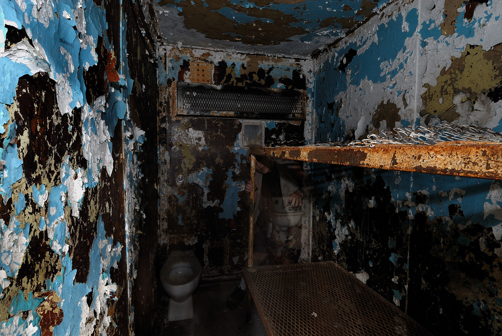 Camera Shy Ghost - ( Hiding behind bunk, in front of sink) - Mansfield Reformatory