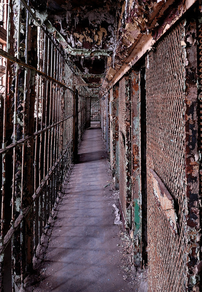 Narrow Walkway on Cell Block - Mansfield Reformatory