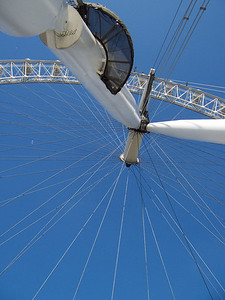 The London Eye, the world's largest Ferris Wheel,  This picture was taken by Kate Downes when she was in London, England 2006.  She was 12 years old at the time.