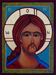 "Icon ""Face of Christ"" -  Maureen Volland Sacred Arts: by the hand of Maureen Volland"