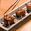 Proscuitto wrapped scallops - Overland Gourmet shoot