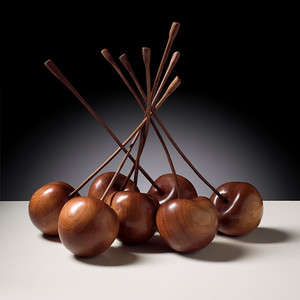 """Cherries"" sculpture by  Grantham Arts"