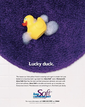 Anso Soft Nylon, fiber company advertisement