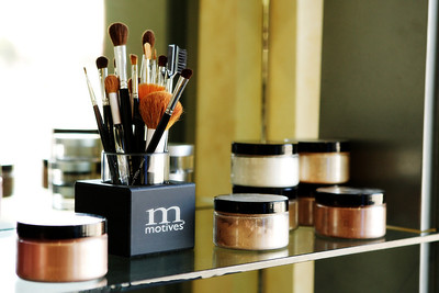 Motives make-up line. Zena Salon.