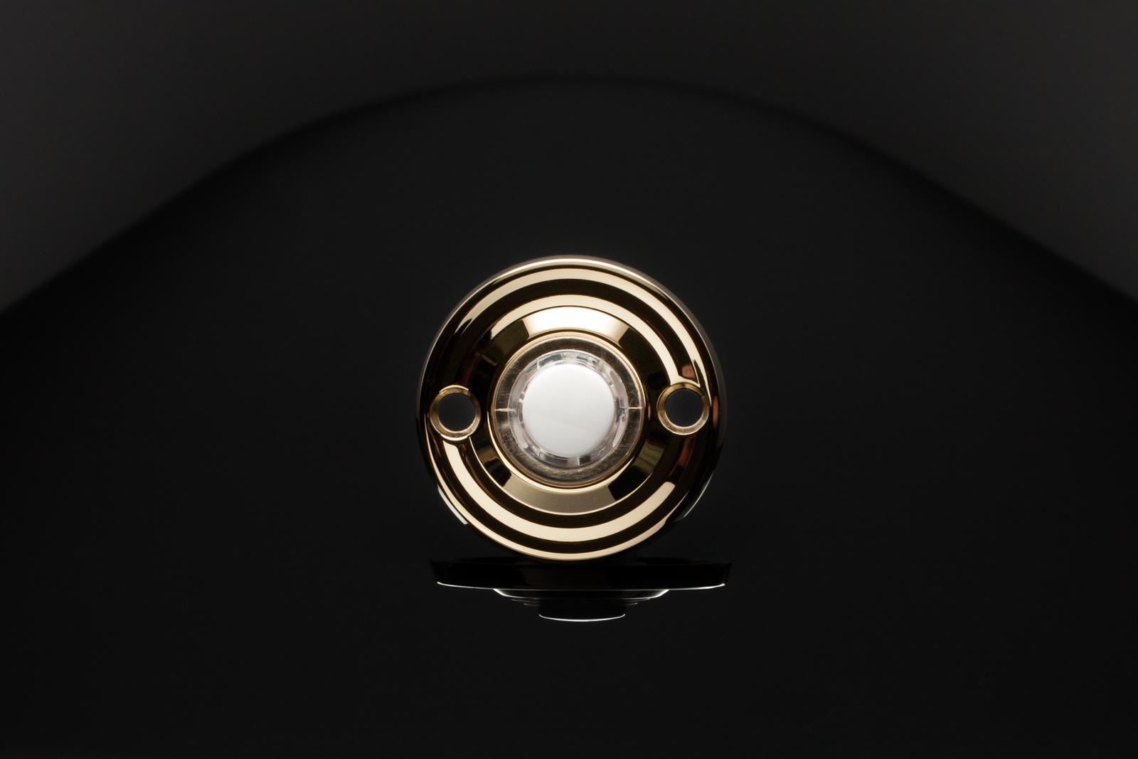 Brass Door Bell on Black