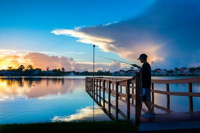 Naples Florida Neighborhood Sunset