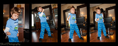 Seven year old Jaden performs the moves he learned from watching AC/DC videos.