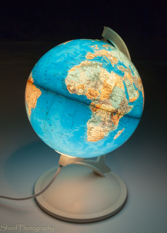 I won this globe in a magazine contest when I was a boy. It's a bit outdated, it still has Yugoslavia!