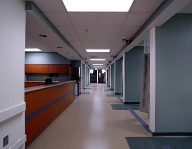 Long Hospital Hallway and entrance