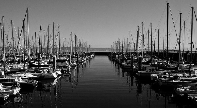 This is a harbor in San Francisco near the baseball stadium.