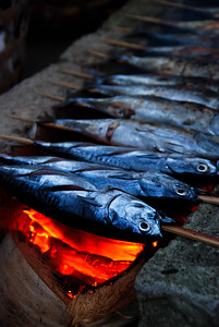 Yum. Grilled fish in Bali is particularly tasty. They often use coconut shells as fuel and it adds a nice flavor.