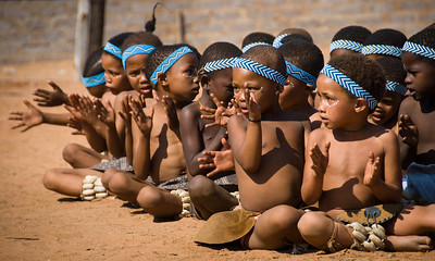 The San bushman are a rarity, living in one of the most sever environments on earth, the Kalahari. With a land rover and plenty of supplies, you could still easily die there. There is an annual dance festival started about 15 years ago and various tribes come from western Botswana and Namibia to display their dance culture. Though young, the kids seem like the real experts. They can move! Plus they are ridiculously cute.