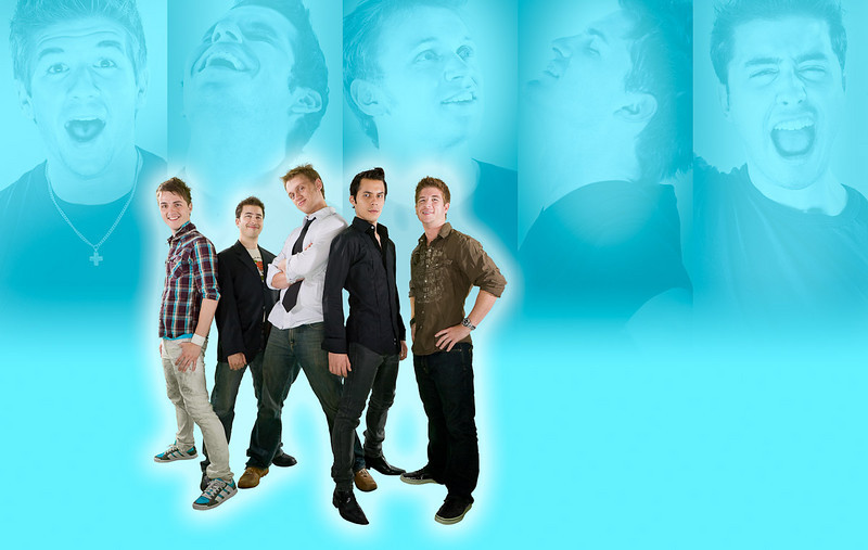 Altar Boyz<br /> <br /> This promotional composite was designed for the theatre company to be able to customize as needed -- the color shot placement could be easily changed to allow whatever text was needed. Among other uses, they customized this composite for a billboard ad.