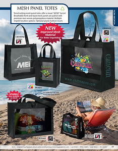 Mesh Panel Totes by Bag Makers Inc.