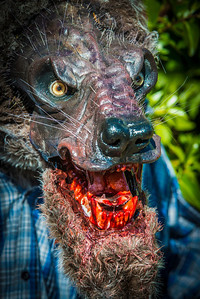 Close up view of the Santee Werewolf. Ask me about custom made sculptures and animatronics.