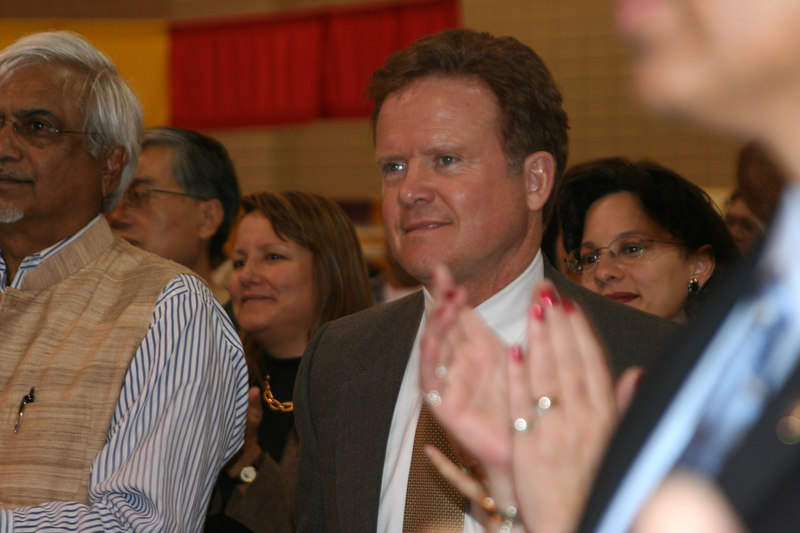 Senator-to-be Jim Webb visits the Festival of India at the Richmond Convention Center, Richmond, Virginia, October 2006.