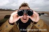 Pic Alan Richardson Dundee<br /> Teachers and students are introduced to the activities for school children at the Tenstsmuir nature reseve in Fife. Student teacher Michael Hamilton looks at the seals trough binoculars