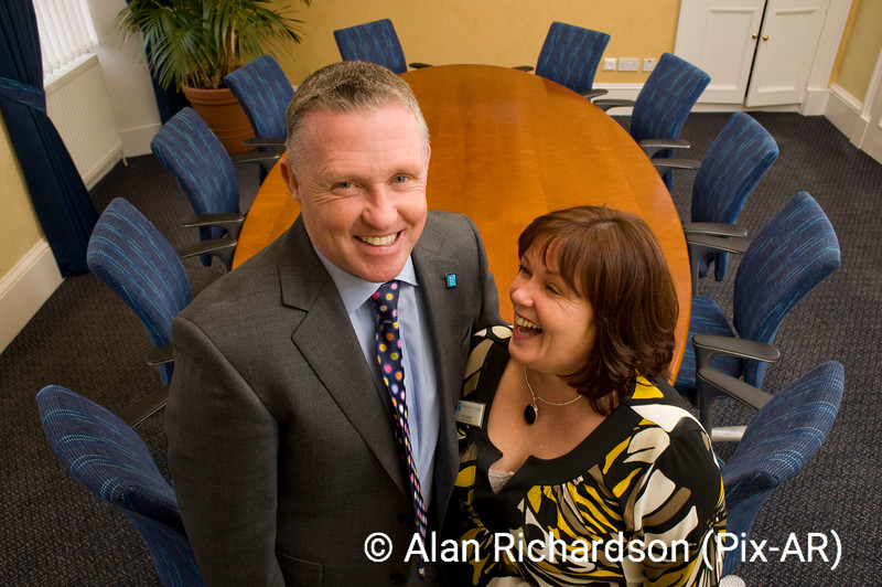 Pic Alan Richardson Dundee Pix-AR.co.uk<br /> Tony and Terry Banks Brother and Sister who run Balhousie Care Group based in Forfar