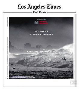 Los Angeles Times, Westside Real Estate - Saturday, Jan 31, 2015. Jay Luchs  and Steven Schaefer Residential and Commercial Real Estate Advertisement. Photo by Jazan Kozma