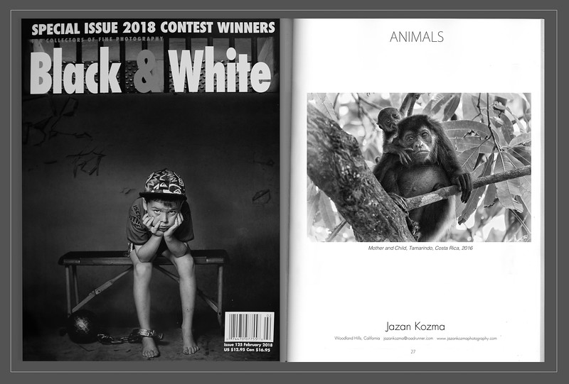 Black & White Magazine 2018  Contest Winner Jazan Kozma, Catagory: Animals
