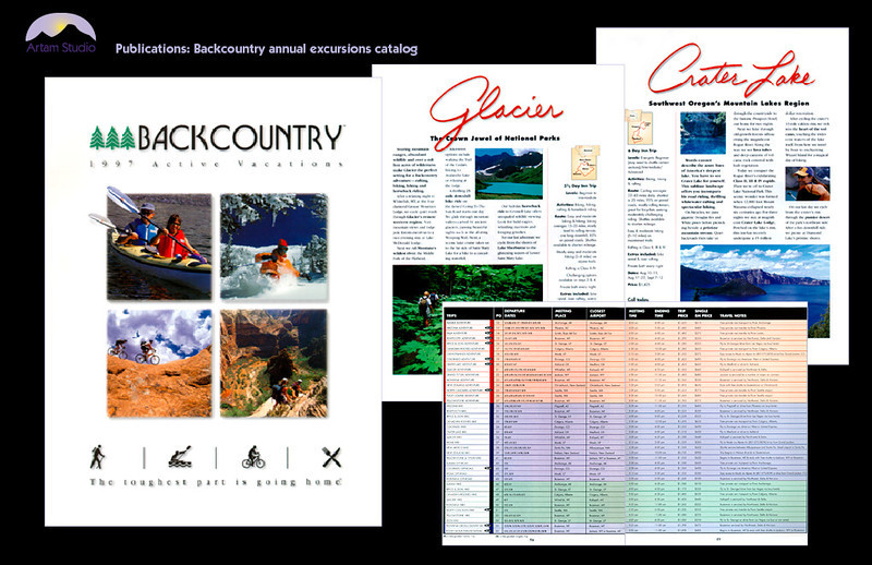 Produce 60-page annual Backcountry Expeditions catalog; copyedit, prep images for reproduction, format chart, create illustrations and infographics, prepare for printer.