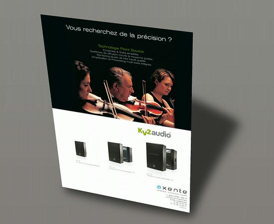 Publicité KV2 Audio - Axente l Pleine page Sono Mag