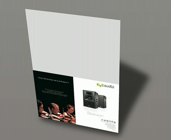 Publicité KV2 Audio - Axente l 1/2 page horizontale Keyboard Recordings