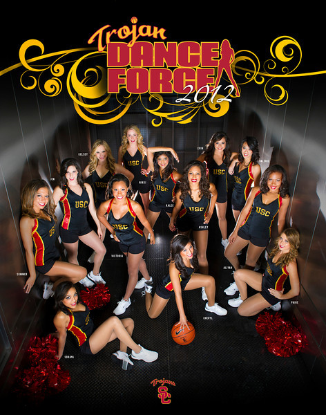 USC Trojan Dance Force 2011-2012 Poster