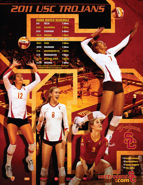 USC Women's Volleyball 2011 Poster