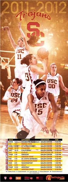 USC Women's Basketball 2011-2012 Poster